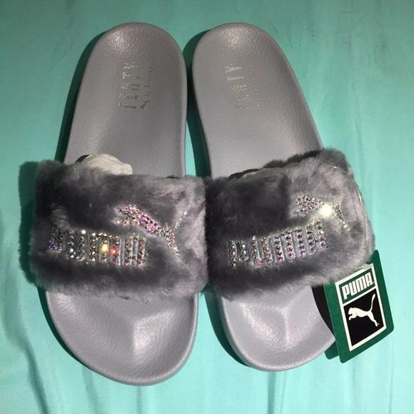 Authentic Puma Fenty Women s Slides With Swarovski. NWT 2c6b147c9